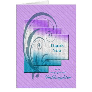 Thank you goddaughter, with elegant rectangles card
