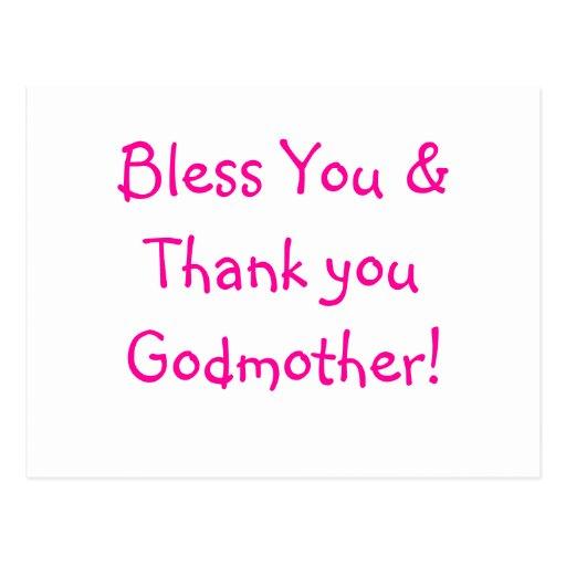 Thank you Godmother postcard