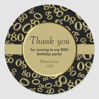 Thank you cards for 80th birthday party