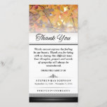 """Thank You Gold Autumn Leaves Words Cannot Express<br><div class=""""desc"""">Thank You Funeral Gold Autumn Leaves - Words Cannot Express  Customize with Your Text</div>"""