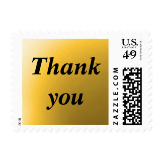 THANK YOU - Gold Background Postage