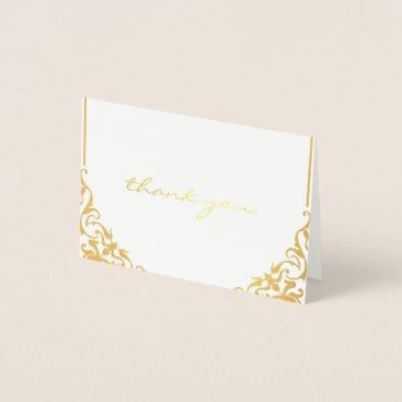 Professional Business thank you. Gold Foil Design Foil Card