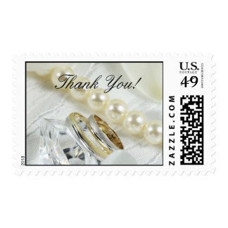 Thank You! Gold Platinum Wedding Band Postage