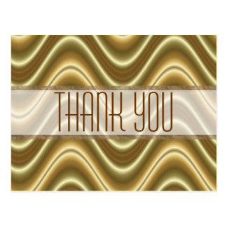 Thank  you gold wave postcard