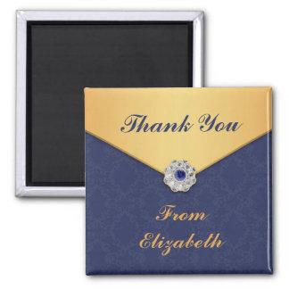 Thank You Golden Damask Magnet