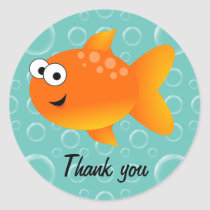 Thank you, Goldfish Classic Round Sticker