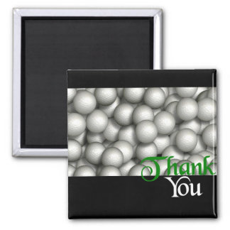 Thank You Golf Balls 2 Inch Square Magnet
