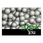 Thank You Golf Balls Greeting Card
