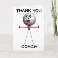 Thank You Golf Coach