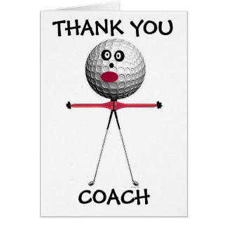 Thank You Golf Coach Card
