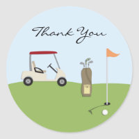 Thank You Golf Stickers