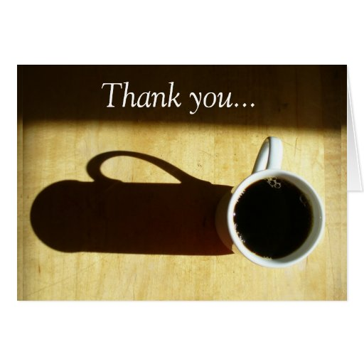 Thank You Good Morning Coffee Cards