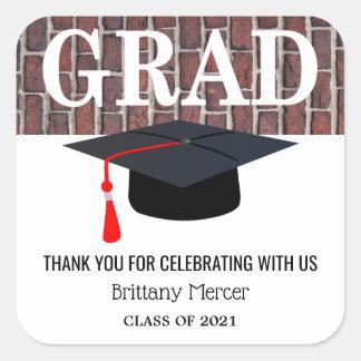 Thank  You Graduate Square Sticker