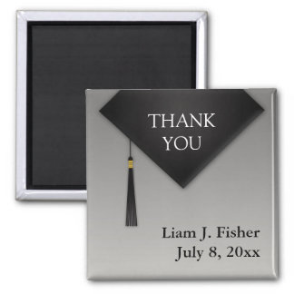Thank You Graduation Black Hat Tassel Magnet