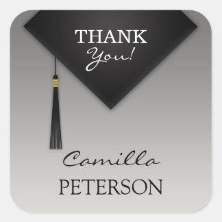 Thank You Graduation Black Hat Tassel Sticker