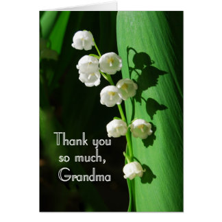 Thank You, Grandma, Lily of the Valley Card