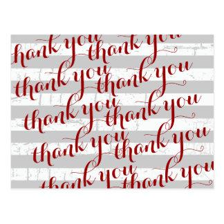 'thank you' gratitude words postcard