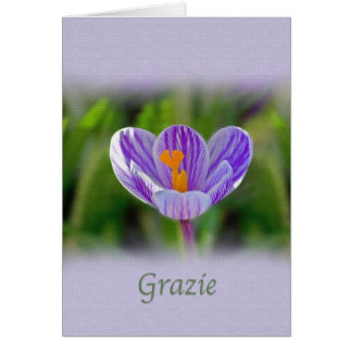Thank you, Grazie, Italian, Floral Card