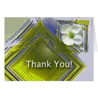 Thank You Great Job Floral Design Greeting Card