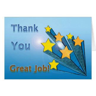 Thank You Great Job Shooting Stars Greeting Cards