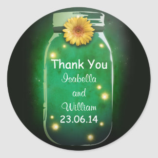 thank you gree rustic whimsical mason jar stickers