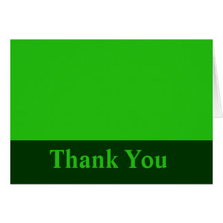 Thank You green color Card