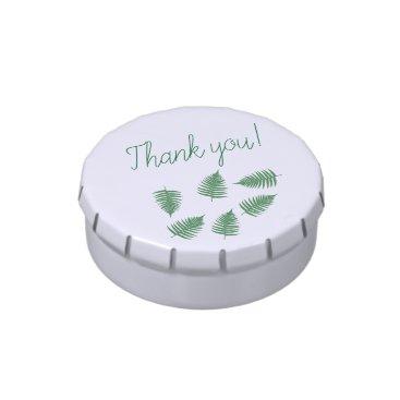loscrazyavocados Thank you Green Fern Pattern Candy Tin