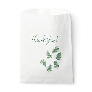 loscrazyavocados Thank You Green Fern Pattern Favor Bag