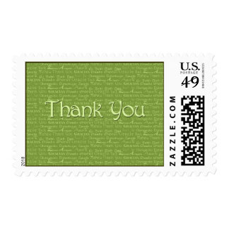 Thank You Green Postage Stamp