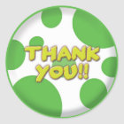 Thank you Green spots Sticker