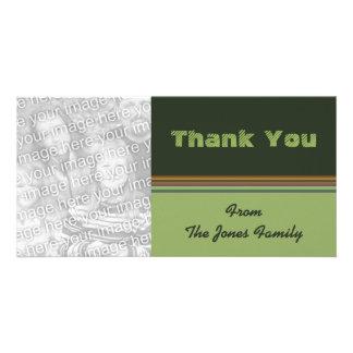 thank you green stripes card