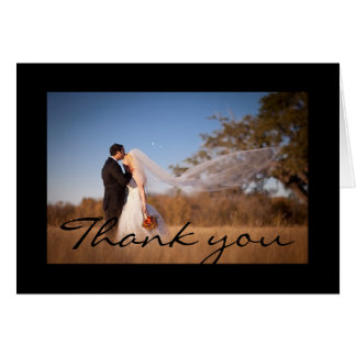 Thank you greeting card. card