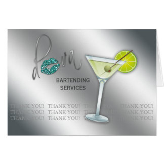 Thank You Greeting Card Diva Martini Drink