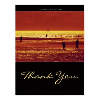 Thank you greeting cards - sunset landscape postcard