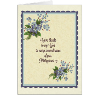 Thank you/Greeting Scripture Note Card