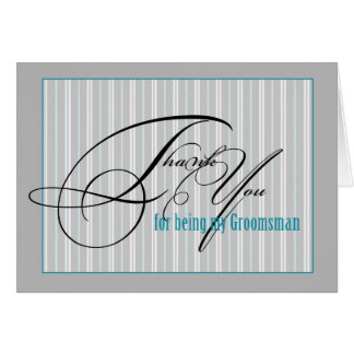thank you groomsman card