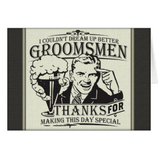 Thank You Groomsmen Stationery Note Card
