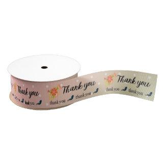 Thank you grosgrain ribbon