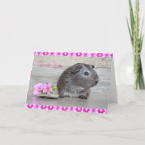 Thank You Guinea Pig Card for a girl