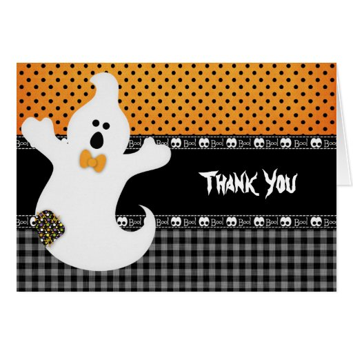 Thank You Halloween Birthday Greeting Cards