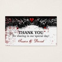 Thank You Halloween Blood Splatter Wedding Card