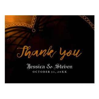 Thank You Halloween Gothic Wedding Post Card