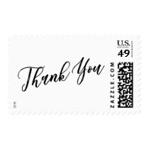Thank You Hand Lettered Font over Your Color Postage