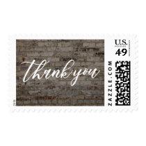Thank You, Hand-Lettered Font & Vintage Bricks Postage