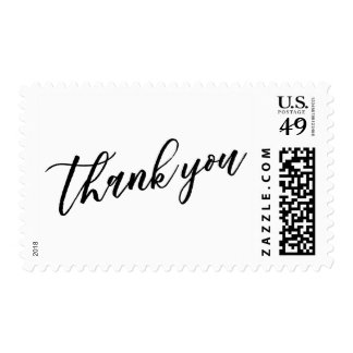Thank You Hand Lettered Font with Your Color Postage