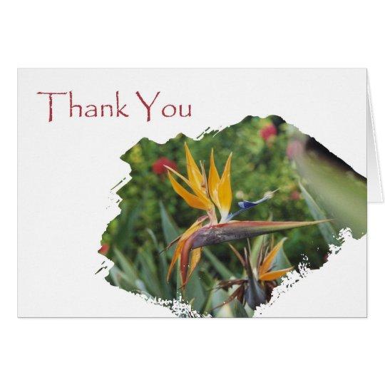 Thank You Hawaiian Flower Card