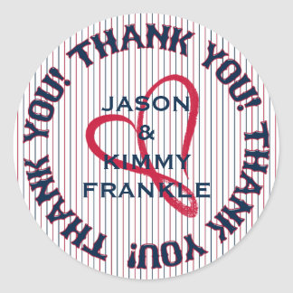 Thank You Heart 2-Round Stickers-Envelope Seals