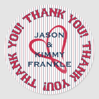 Thank You Heart 3-Round Stickers-Envelope Seals
