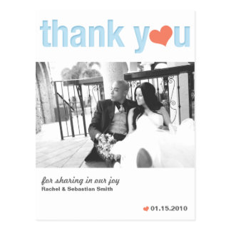 THANK YOU - HEART POSTCARDS