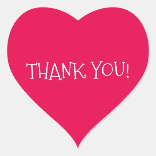Thank You Heart_Shaped Sticker